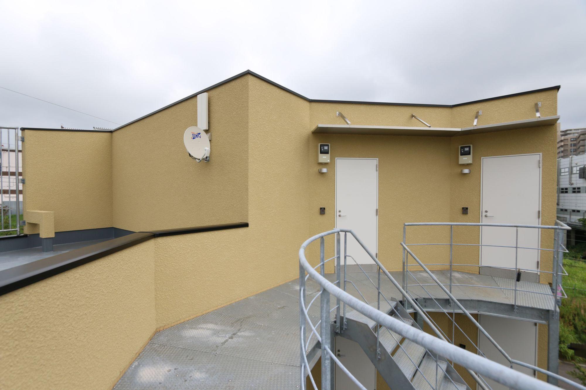八千代の集合住宅 外部共用廊下